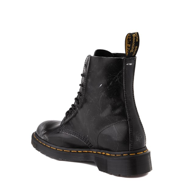 alternate view Dr. Martens 1460 8-Eye Italian Brush-Off Boot - BlackALT2
