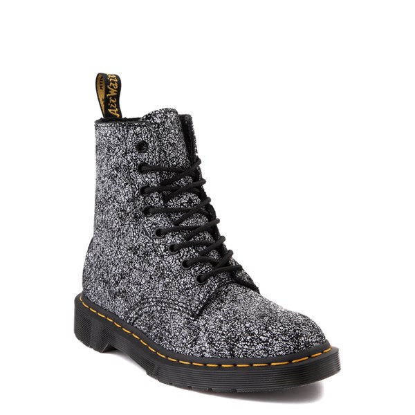 alternate view Dr. Martens 1460 8-Eye Splatter Chaos Boot - BlackALT1
