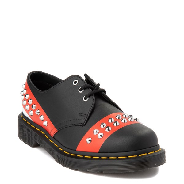 alternate view Dr. Martens 1461 Stud Casual Shoe - Black / RedALT1