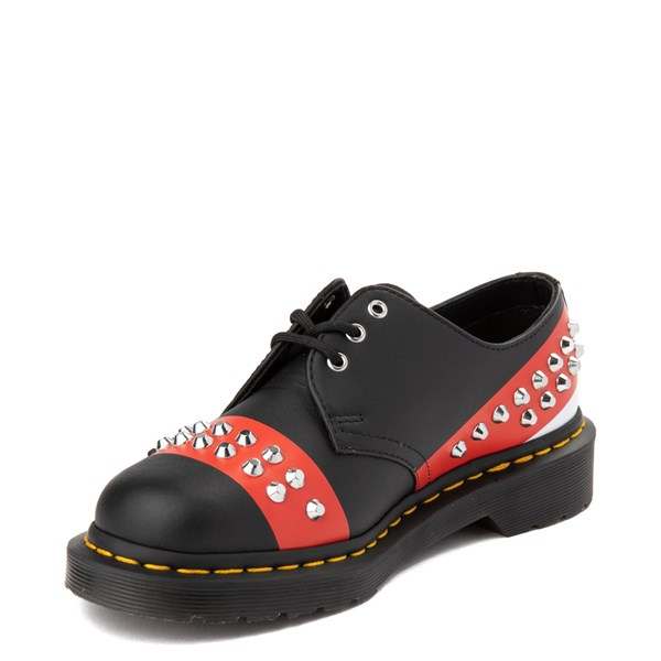 alternate view Dr. Martens 1461 Stud Casual Shoe - Black / RedALT3