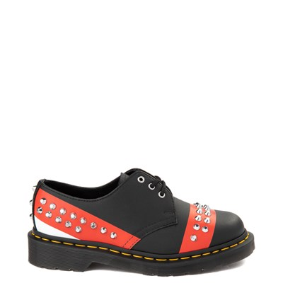 Main view of Dr. Martens 1461 Stud Casual Shoe - Black / Red