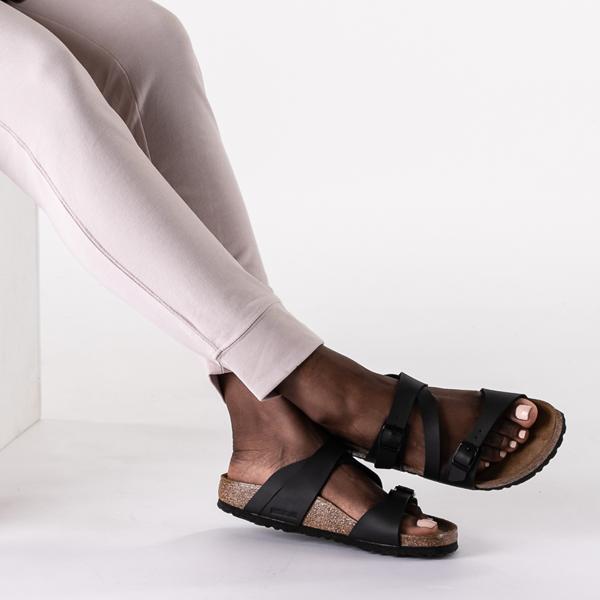 alternate view Womens Birkenstock Salina Slide Sandal - BlackB-LIFESTYLE1