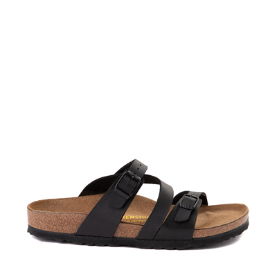 Main view of Womens Birkenstock Salina Slide Sandal - Black