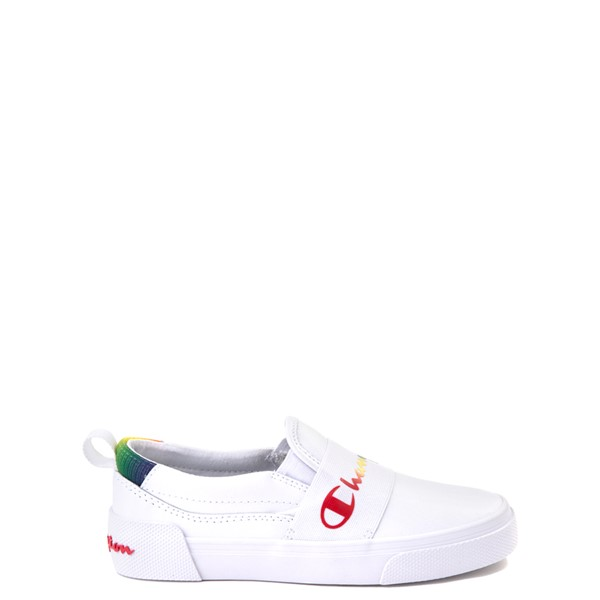 Main view of Champion Rally Slip On Athletic Shoe - Little Kid - White / Multi
