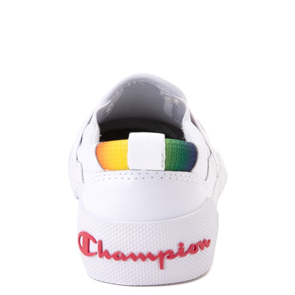 alternate view Champion Rally Slip On Athletic Shoe - Little Kid - White / MultiALT4