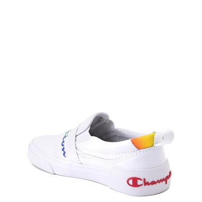 Alternate view of Champion Rally Slip On Athletic Shoe - Little Kid - White / Multi