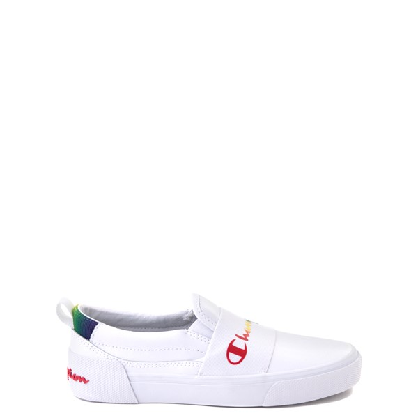 Main view of Champion Rally Slip On Athletic Shoe - Big Kid - White / Multi
