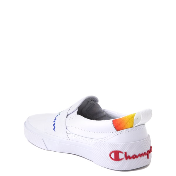 alternate view Champion Rally Slip On Athletic Shoe - Big Kid - White / MultiALT1