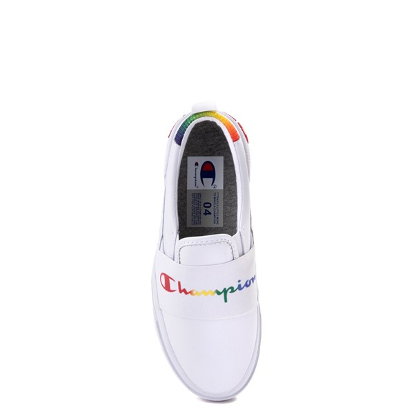 alternate view Champion Rally Slip On Athletic Shoe - Big Kid - White / MultiALT2