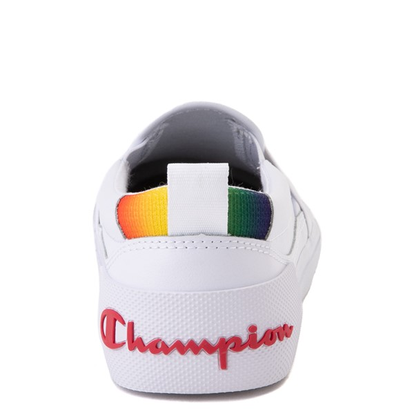 alternate view Champion Rally Slip On Athletic Shoe - Big Kid - White / MultiALT4