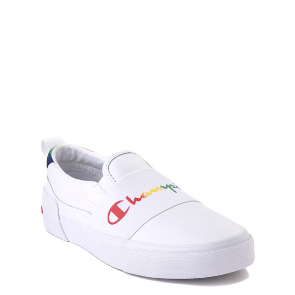 alternate view Champion Rally Slip On Athletic Shoe - Big Kid - White / MultiALT5