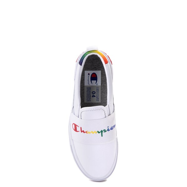 alternate view Champion Rally Slip On Athletic Shoe - Big Kid - White / MultiALT6