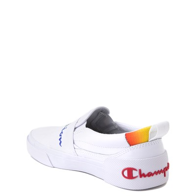 Alternate view of Champion Rally Slip On Athletic Shoe - Big Kid - White / Multi