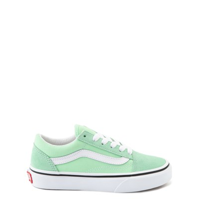 Main view of Vans Old Skool Skate Shoe - Little Kid - Green Ash