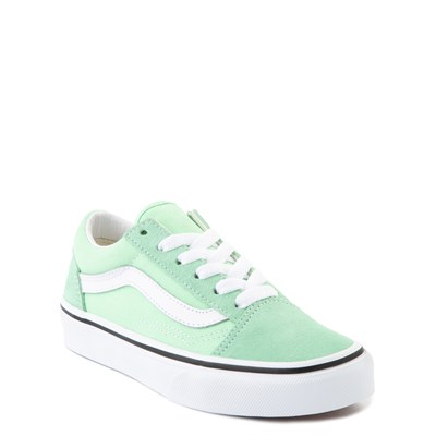 Alternate view of Vans Old Skool Skate Shoe - Little Kid - Green Ash