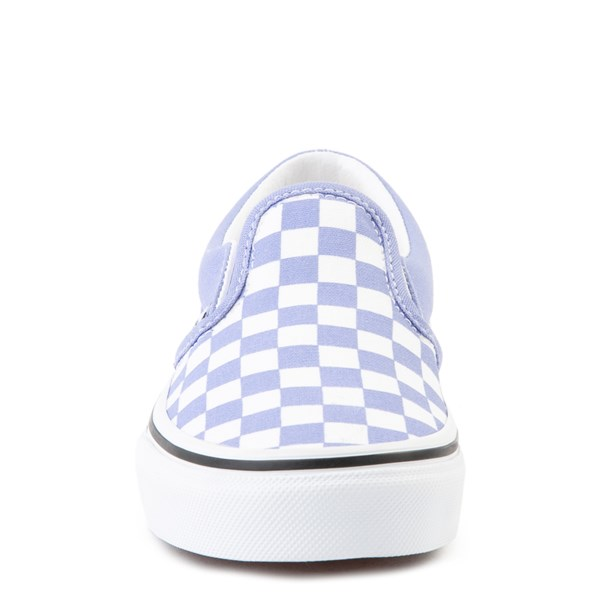 alternate view Vans Slip On Checkerboard Skate Shoe - Little Kid - Pale IrisALT4