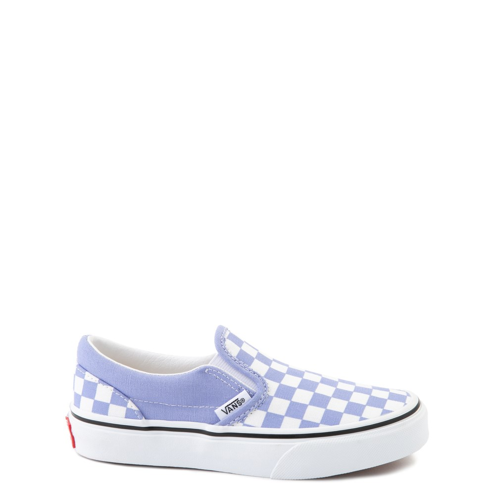 Vans Slip On Checkerboard Skate Shoe - Little Kid - Pale Iris