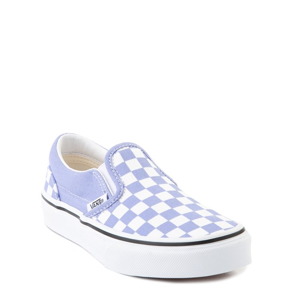 Alternate view of Vans Slip On Checkerboard Skate Shoe - Big Kid - Pale Iris / White