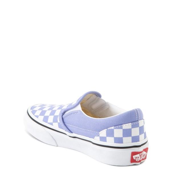alternate view Vans Slip On Checkerboard Skate Shoe - Big Kid - Pale Iris / WhiteALT2