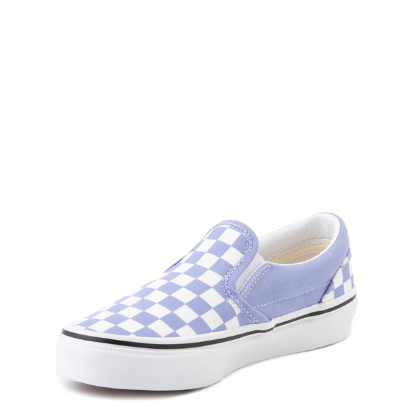 alternate view Vans Slip On Checkerboard Skate Shoe - Big Kid - Pale Iris / WhiteALT3