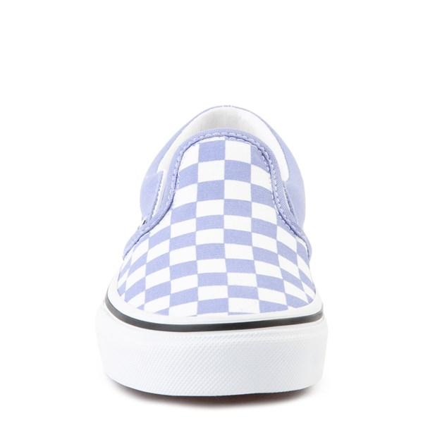 alternate view Vans Slip On Checkerboard Skate Shoe - Big Kid - Pale Iris / WhiteALT4