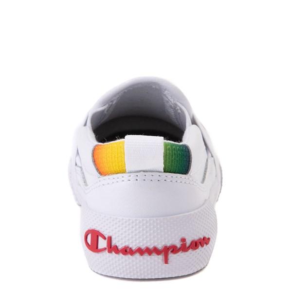 alternate view Champion Rally Slip On Athletic Shoe - Baby / Toddler - White / MultiALT7
