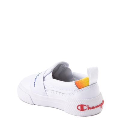 Alternate view of Champion Rally Slip On Athletic Shoe - Baby / Toddler - White / Multi