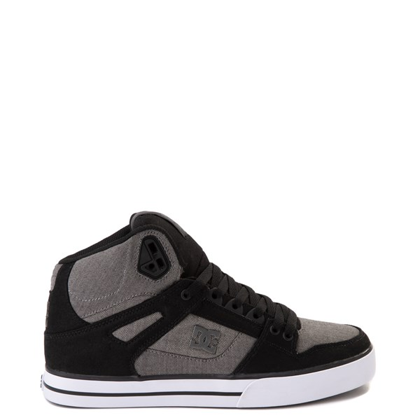 Mens DC Pure Hi WC Skate Shoe - Black / Gray