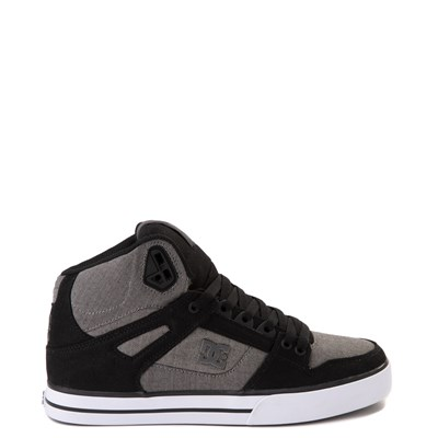 Main view of Mens DC Pure Hi WC Skate Shoe - Black / Gray