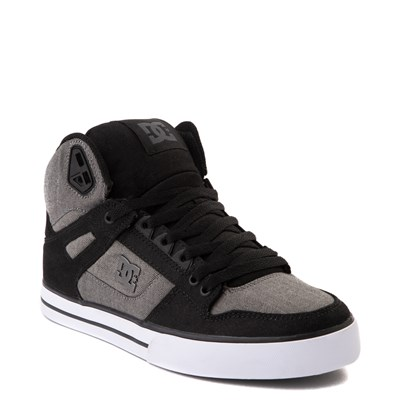 Alternate view of Mens DC Pure Hi WC Skate Shoe - Black / Gray