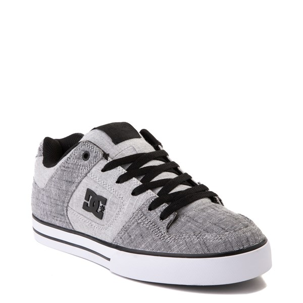 alternate view Mens DC Pure TX SE Skate Shoe - Gray / WhiteALT1