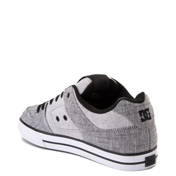 alternate view Mens DC Pure TX SE Skate Shoe - Gray / WhiteALT2