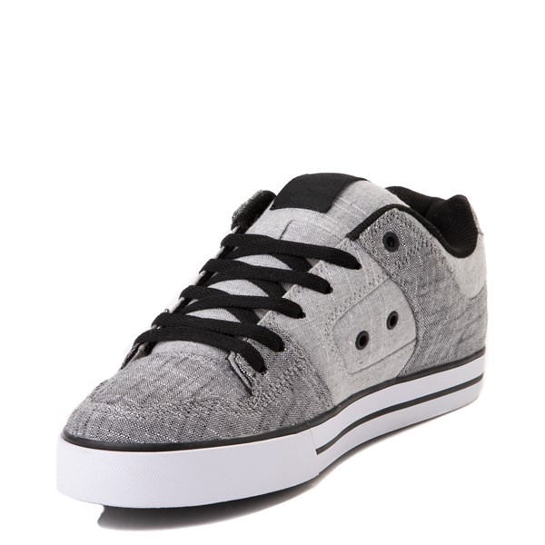 alternate view Mens DC Pure TX SE Skate Shoe - Gray / WhiteALT3