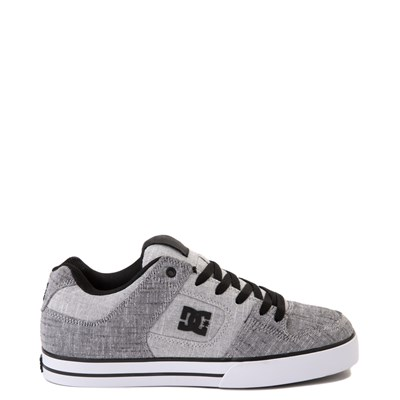 Main view of Mens DC Pure TX SE Skate Shoe - Gray / White