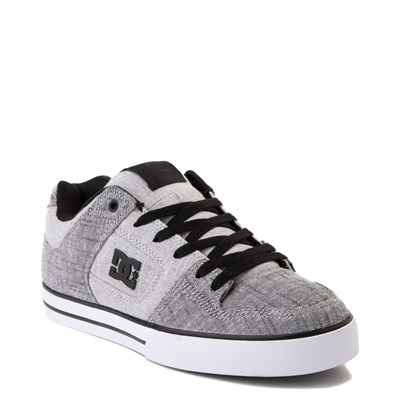 Alternate view of Mens DC Pure TX SE Skate Shoe - Gray / White