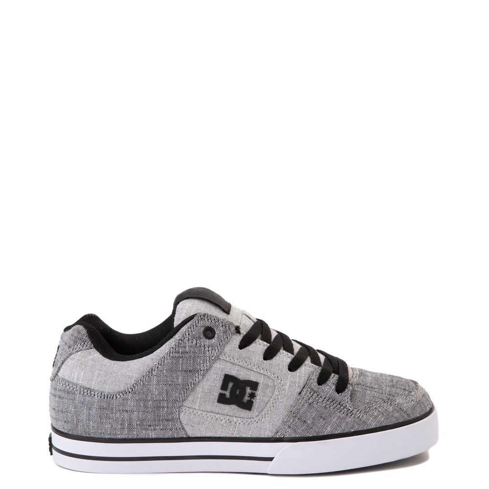 Mens DC Pure TX SE Skate Shoe - Gray / White