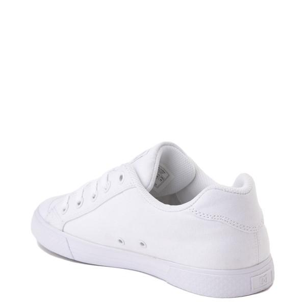 alternate view Womens DC Chelsea TX Skate Shoe - White / SilverALT1