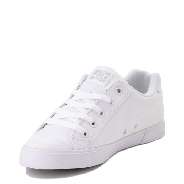 alternate view Womens DC Chelsea TX Skate Shoe - White / SilverALT2