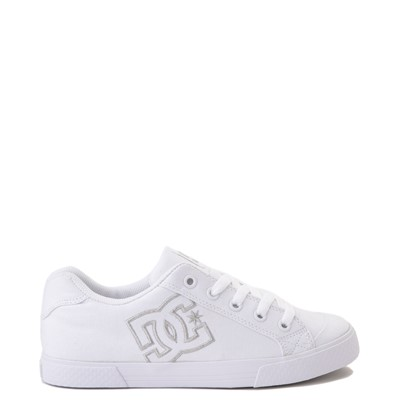 Main view of Womens DC Chelsea TX Skate Shoe - White / Silver
