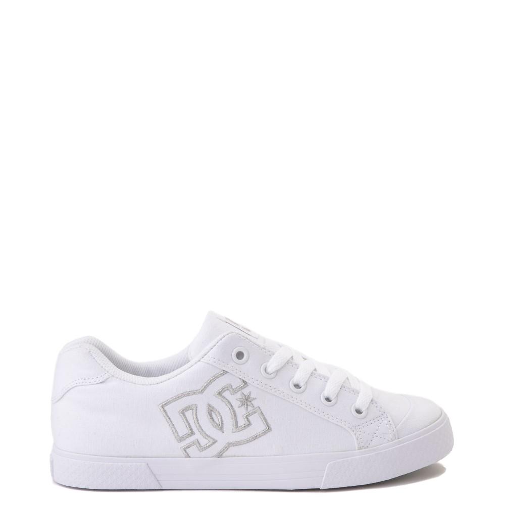 Womens DC Chelsea TX Skate Shoe - White / Silver
