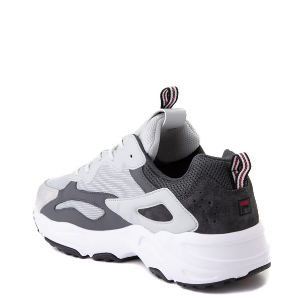 alternate view Mens Fila Ray Tracer Athletic Shoe - Gray / Charcoal / RedALT1