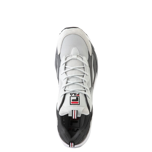 alternate view Mens Fila Ray Tracer Athletic Shoe - Gray / Charcoal / RedALT2