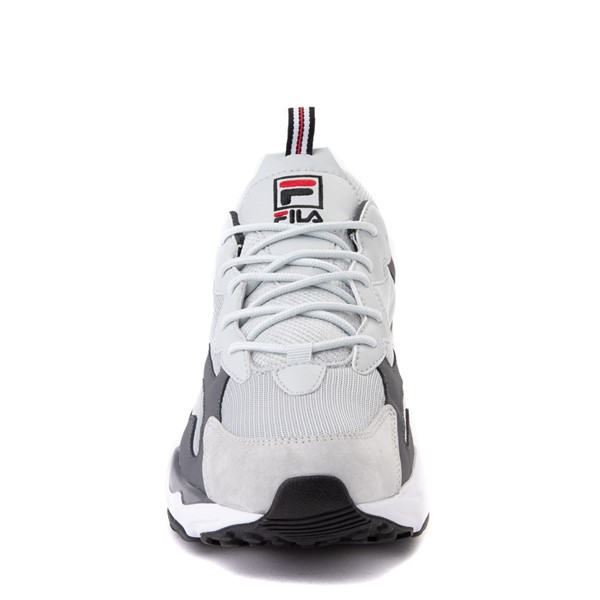 alternate view Mens Fila Ray Tracer Athletic Shoe - Gray / Charcoal / RedALT4