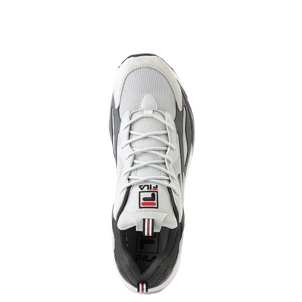 alternate view Mens Fila Ray Tracer Athletic Shoe - Gray / Charcoal / RedALT4B