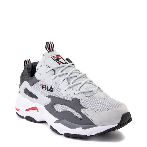 alternate view Mens Fila Ray Tracer Athletic Shoe - Gray / Charcoal / RedALT5