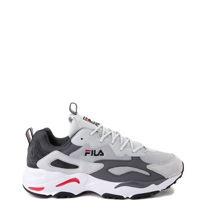 Main view of Mens Fila Ray Tracer Athletic Shoe - Gray / Charcoal / Red