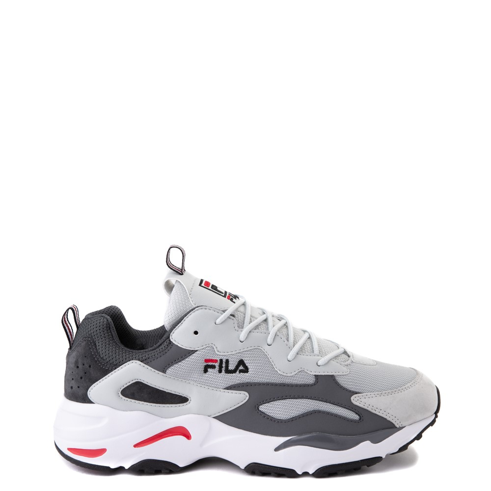 Mens Fila Ray Tracer Athletic Shoe - Gray / Charcoal / Red