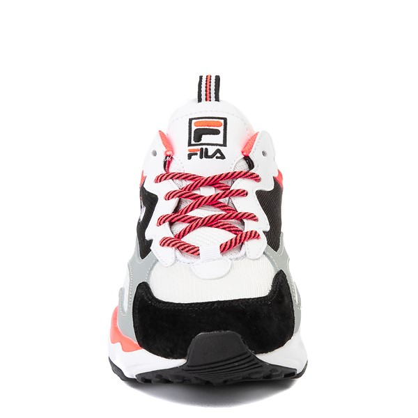 alternate view Womens Fila Ray Tracer Athletic Shoe - White / Black / CoralALT4
