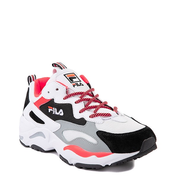 alternate view Womens Fila Ray Tracer Athletic Shoe - White / Black / CoralALT5