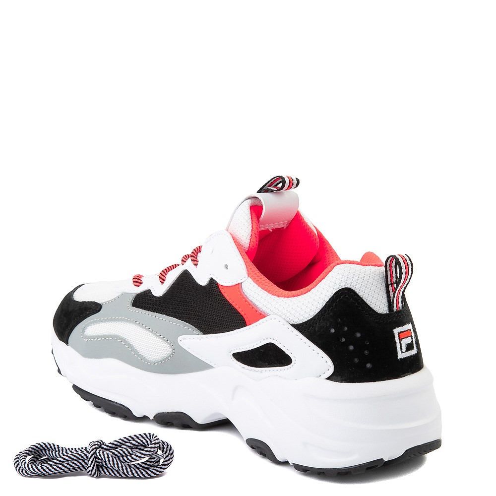 Womens Fila Ray Tracer Athletic Shoe White Black Coral